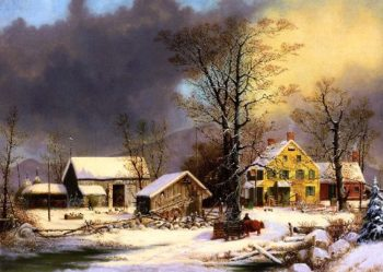 Winter in the Country A Cold Morning | George Henry Durrie | oil painting