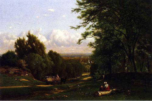 Near Leeds New York   George Inness   oil painting