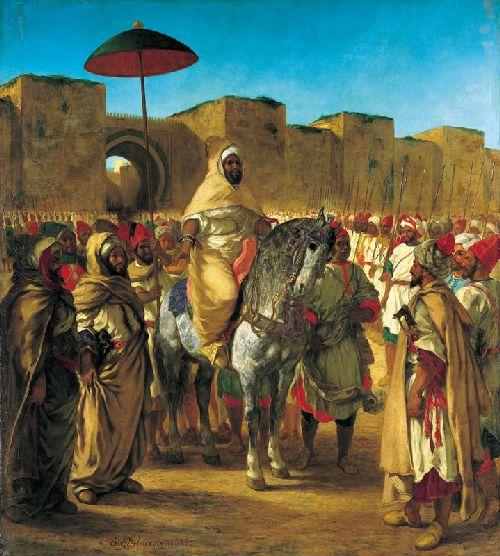 Sultan of Morocco | Eugene Delacroix | oil painting