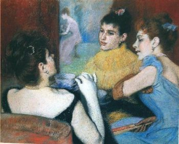 The Tea | Federico Zandomeneghi | oil painting