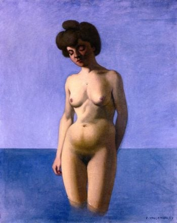 Bather in Frontal View | Felix Vallotton | oil painting