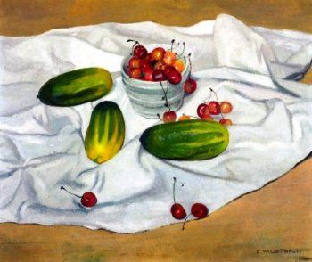 Cucumbers   Felix Vallotton   oil painting