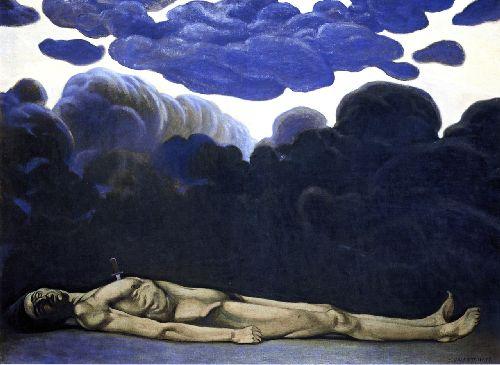 The Stabbed Man   Felix Vallotton   oil painting