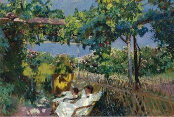 Siesta in the Garden | Joaquin Sorolla y Bastida | oil painting