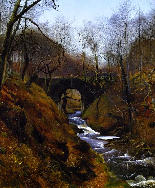 Ghyll Beck Barden Yorkshire | John Atkinson Grimshaw | oil painting