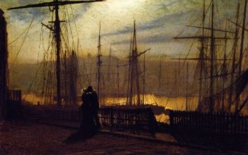 Home Again | John Atkinson Grimshaw | oil painting