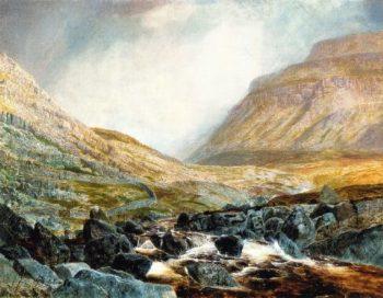 Ingleborough from under White Scar | John Atkinson Grimshaw | oil painting