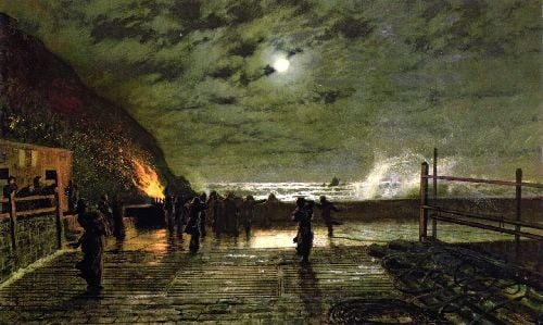 In Peril | John Atkinson Grimshaw | oil painting