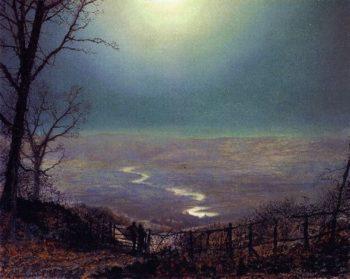 Moonlight Wharfedale | John Atkinson Grimshaw | oil painting