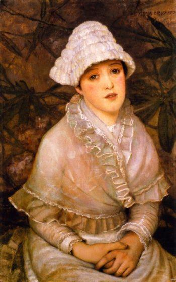 My Wee White Rose | John Atkinson Grimshaw | oil painting