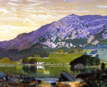 Nab Scar The Lake District | John Atkinson Grimshaw | oil painting