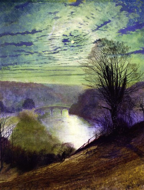 On the Tees near Barnard Castle   John Atkinson Grimshaw   oil painting