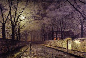Silver Moonlight   John Atkinson Grimshaw   oil painting