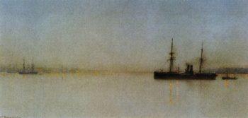 The Port Light   John Atkinson Grimshaw   oil painting