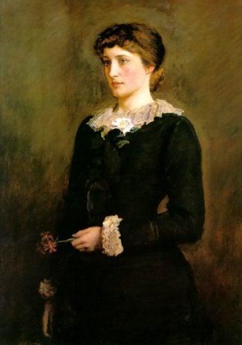 A Jersey Lily | Sir John Everett Millais | oil painting