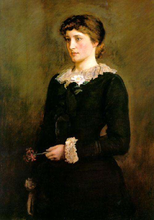 A Jersey Lily   Sir John Everett Millais   oil painting