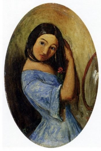 A Young Girl Combing Her Hair | Sir John Everett Millais | oil painting