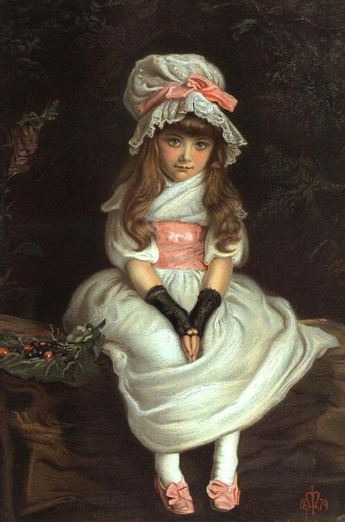 Cherry Ripe | Sir John Everett Millais | oil painting