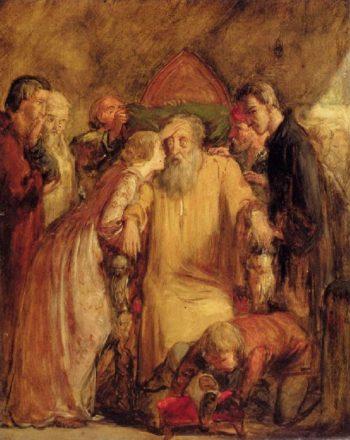 Lear And Cordelia   Sir John Everett Millais   oil painting