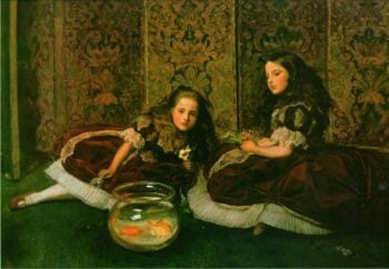 Leisure Hours   Sir John Everett Millais   oil painting
