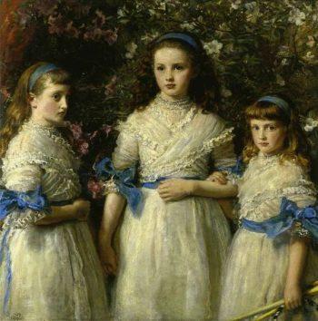 Sisters   Sir John Everett Millais   oil painting