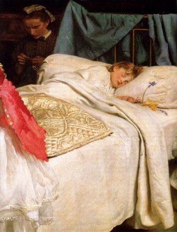 Sleeping   Sir John Everett Millais   oil painting