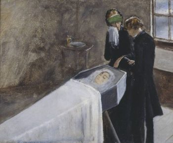 The Artist Attending the Mourning of a Young Girl | Sir John Everett Millais | oil painting