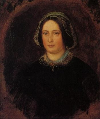 The Artists Aunt   Sir John Everett Millais   oil painting