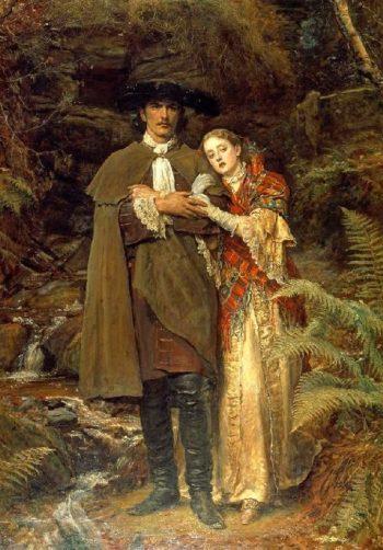 The Bride of Lammermoor   Sir John Everett Millais   oil painting