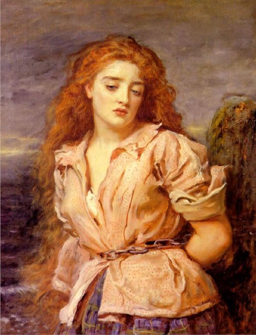 The Matyr of the Solway   Sir John Everett Millais   oil painting