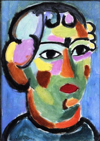 Head in Green Colors | Alexei Jawlensky | oil painting