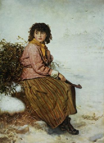 The Mistletoe Gatherer   Sir John Everett Millais   oil painting