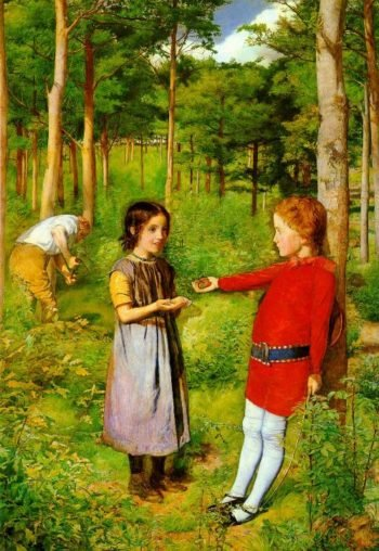 The Woodmans Daughter | Sir John Everett Millais | oil painting