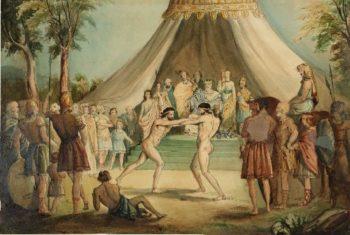 The Wrestlers | Sir John Everett Millais | oil painting