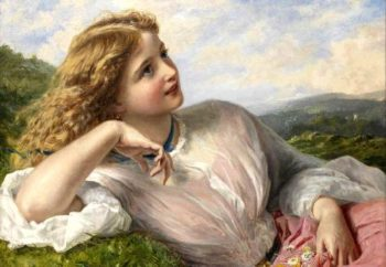 The Song of the Nightingale | Sophie Anderson | oil painting