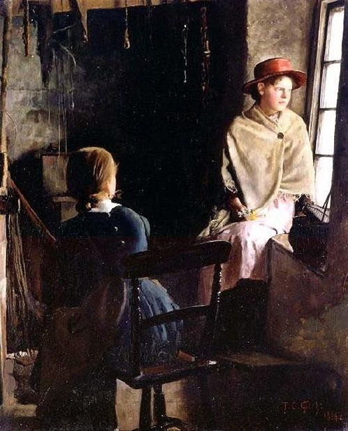 A Cottage Interior Newlyn   Thomas Cooper Gotch   oil painting