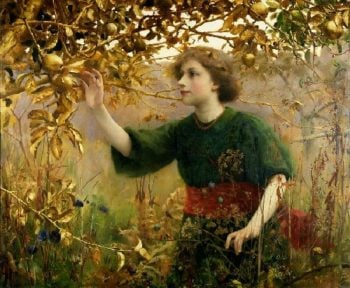 A Golden Dream | Thomas Cooper Gotch | oil painting