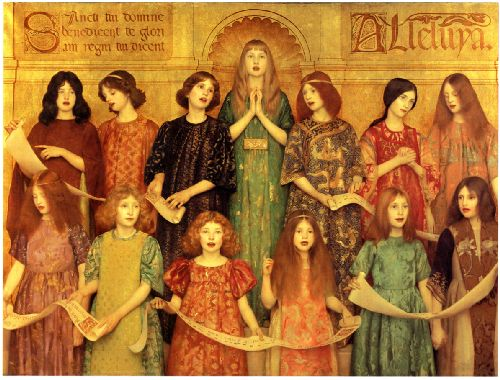 Alleluia | Thomas Cooper Gotch | oil painting