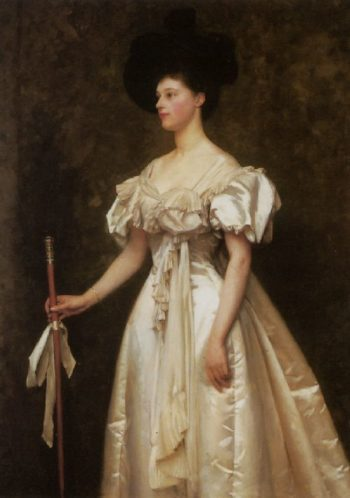 A Portrait of Miss Winifred Grace Hegan Kennard   Thomas Cooper Gotch   oil painting