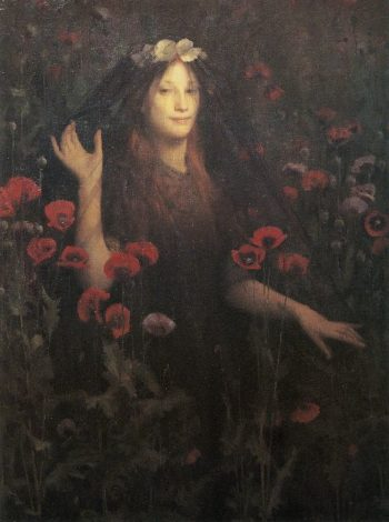 Death the Bride | Thomas Cooper Gotch | oil painting