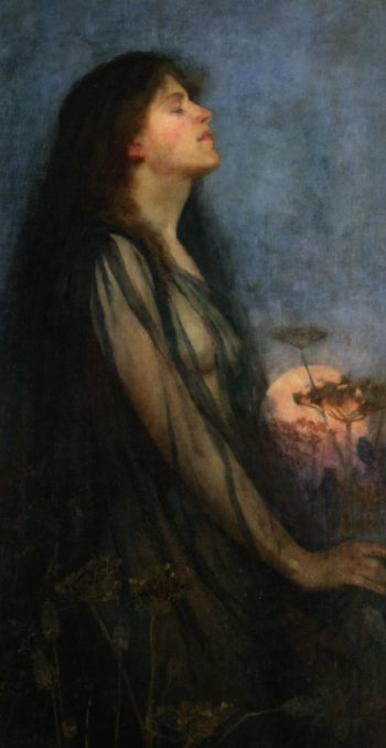 Evening | Thomas Cooper Gotch | oil painting