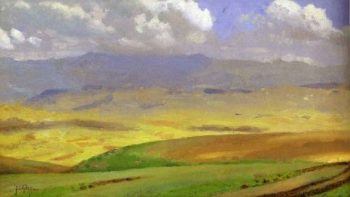 High Veldt South Africa | Thomas Cooper Gotch | oil painting