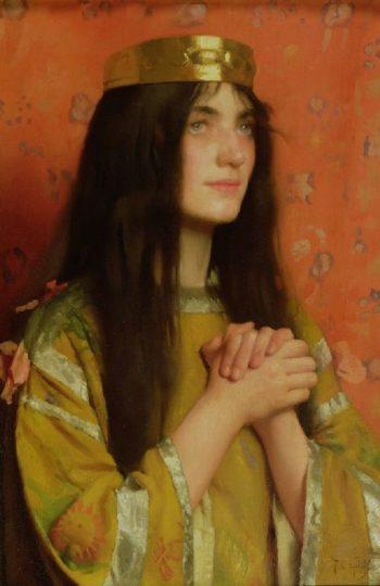 La Reine Clothilde | Thomas Cooper Gotch | oil painting