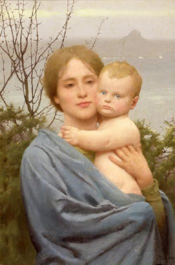 Madonna of the Mount   Thomas Cooper Gotch   oil painting