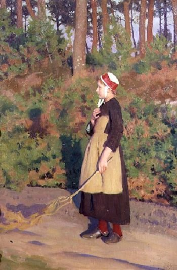 Mother Goose | Thomas Cooper Gotch | oil painting