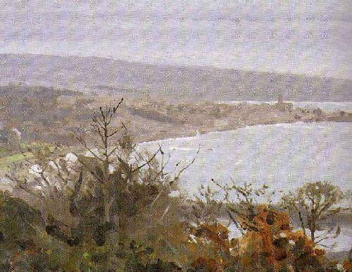 Mounts Bay Autumn | Thomas Cooper Gotch | oil painting