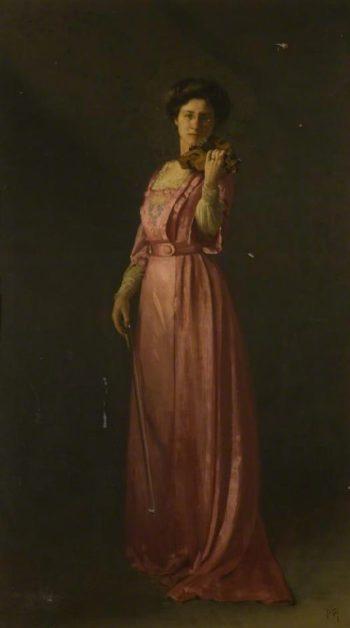 Mrs Fielden Violinist | Thomas Cooper Gotch | oil painting