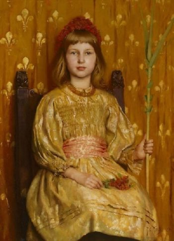 My Crown and Sceptre | Thomas Cooper Gotch | oil painting