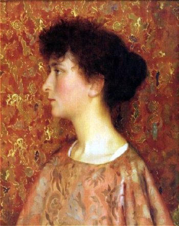 Study Of A Young Woman | Thomas Cooper Gotch | oil painting
