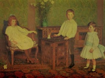 The Children of L Breitmeyer Esq | Thomas Cooper Gotch | oil painting